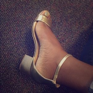 Gold Block Heel